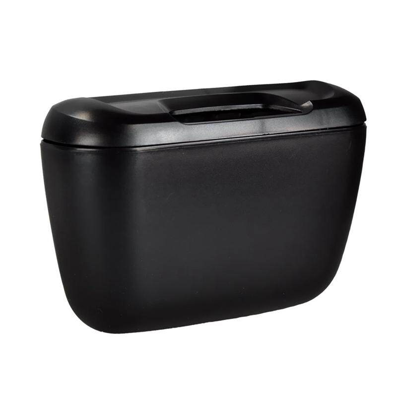 Black Tone Plastic Compact Trash Can Garbage Bin For Car Auto By Shakeshake.