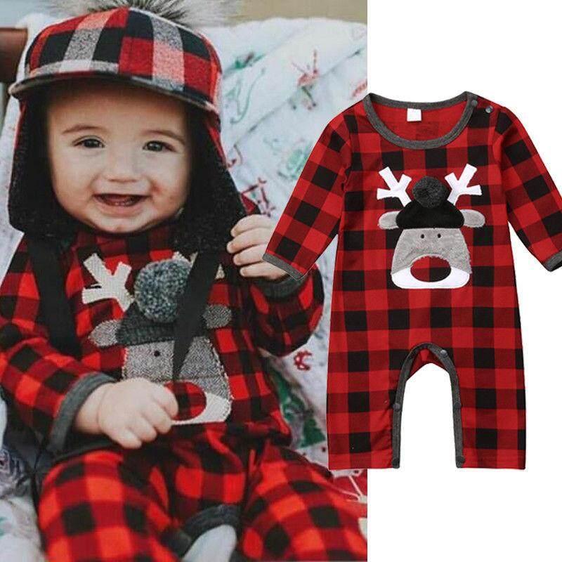 Natal Bayi Anak Laki-laki Anak Perempuan Baju Anak Kecil Katun Bodysuit Pakaian Bermain