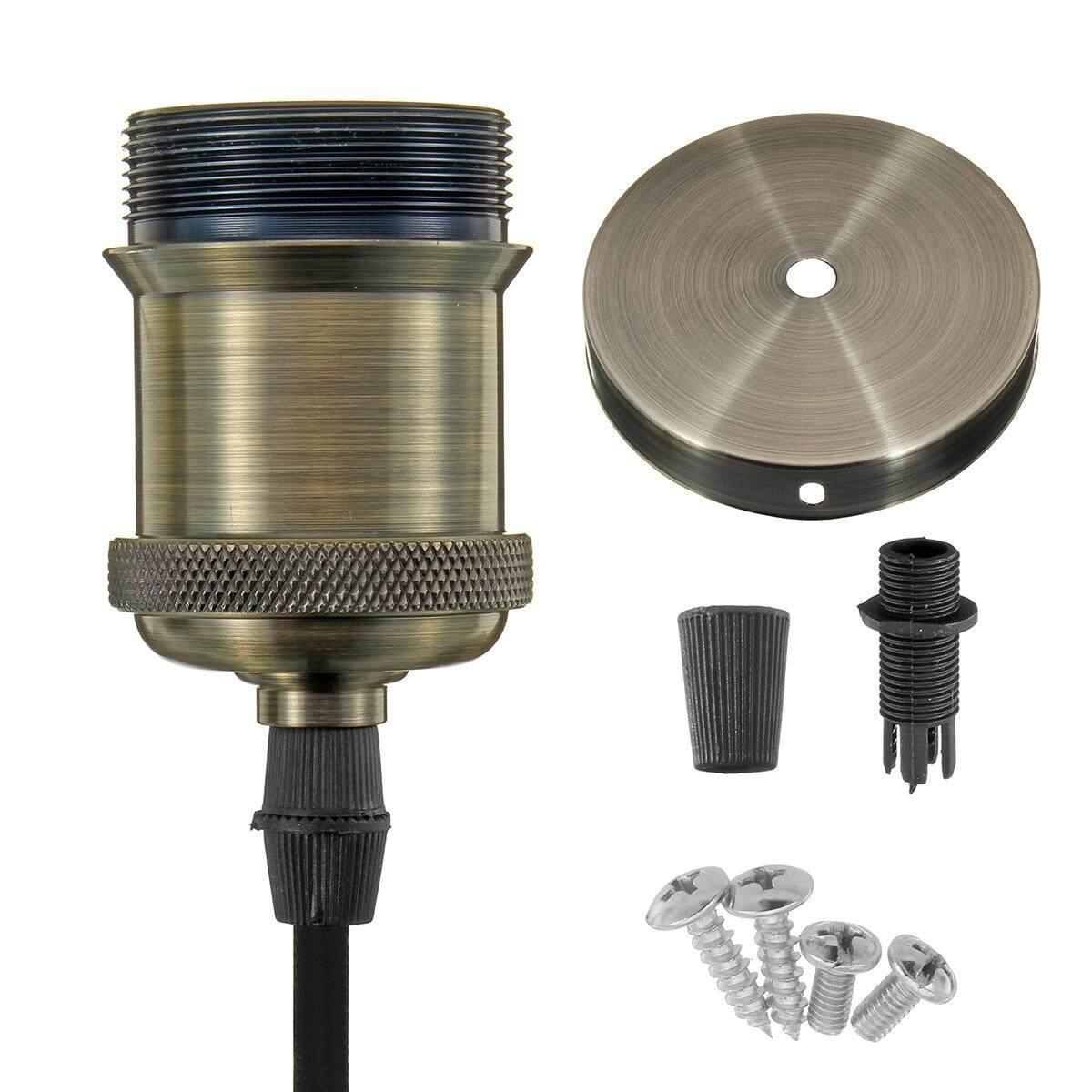 E27 Base Light Lamp Holder Vintage Pendant Industrial Copper