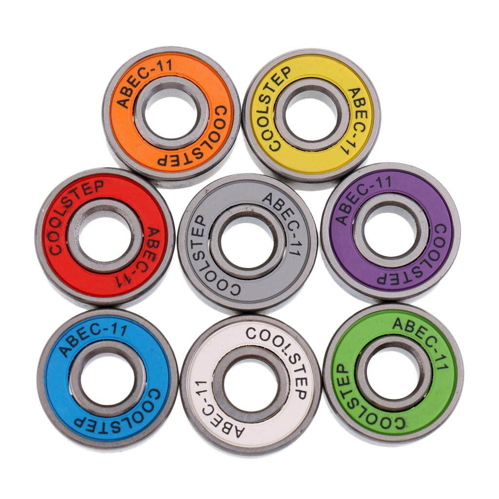 Magideal 8 Pieces Abec 11 High Speed Wearproof Skateboard Scooter Inline Bearings By Magideal.
