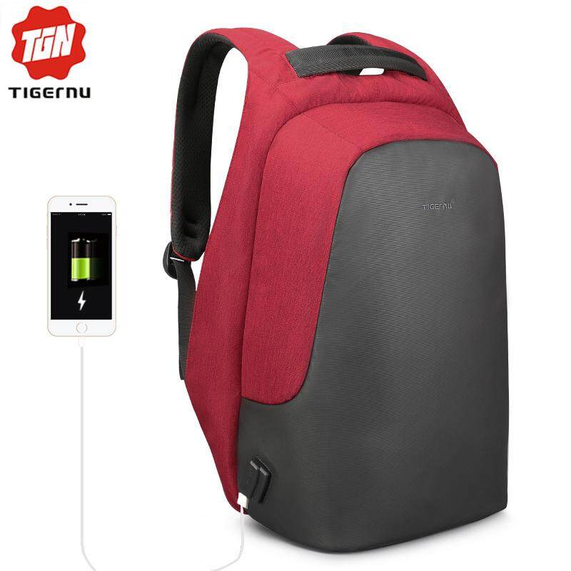 95ebff153529 Tigernu 2018 New Anti theft Water Repellent 15.6 inch USB Charging Causal  Men Backpacks School Bag