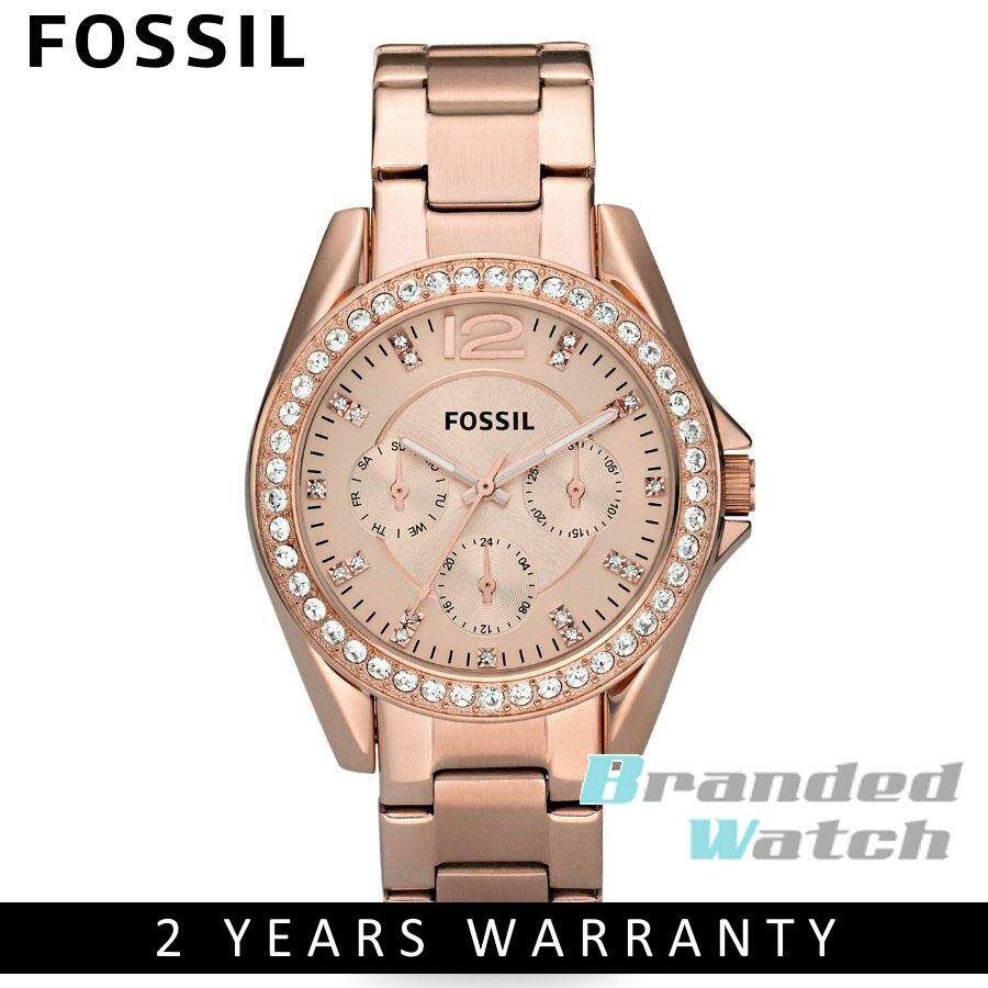 Fossil Women Watches Price In Malaysia Best Es3225 Jam Tangan Wanita Original Es2811 Womens Riley Multifunction Rose Toned Steel Watch