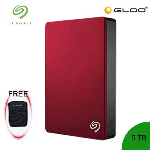 Seagate Backup Plus Portable Drive 5TB - Red – STDR5000303 [FREE Pouch Casing]