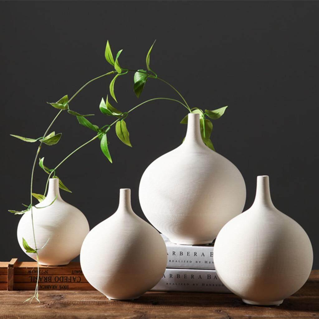 Fityle Ceramic Vase Japanese Ikebana Flower Vase Tabletop Desktop Centerpiece S+L