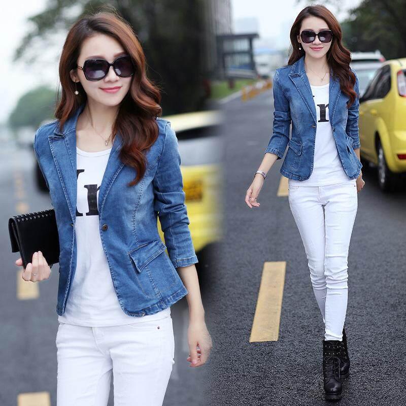 84785ca061e Retro Korean Women Boyfriend Oversize Jacket Loose Casual Denim Jeans Coat  Tops