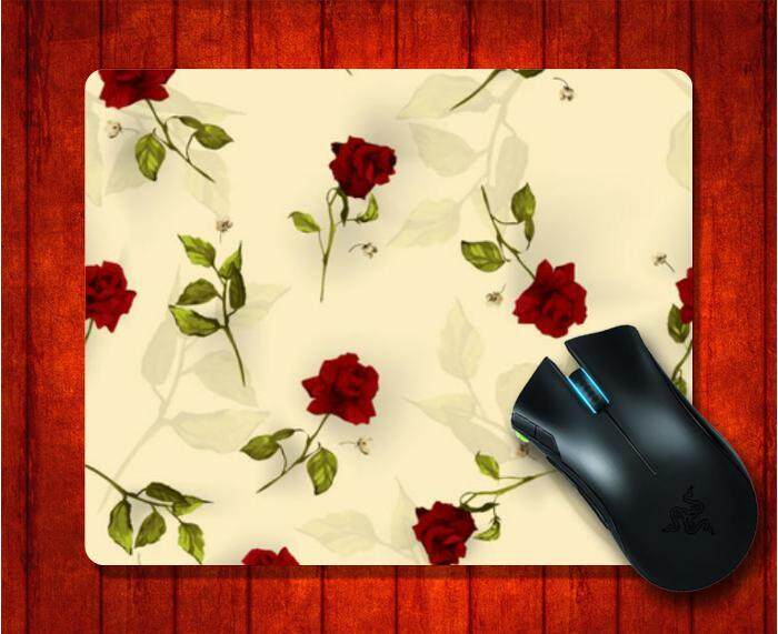 MousePad with Vintage Floral Pattern Red Roses picture for Mouse Pad Design image Gaming Mice mat 9.5 X 7.9 Inch(240X200X3mm) - intl