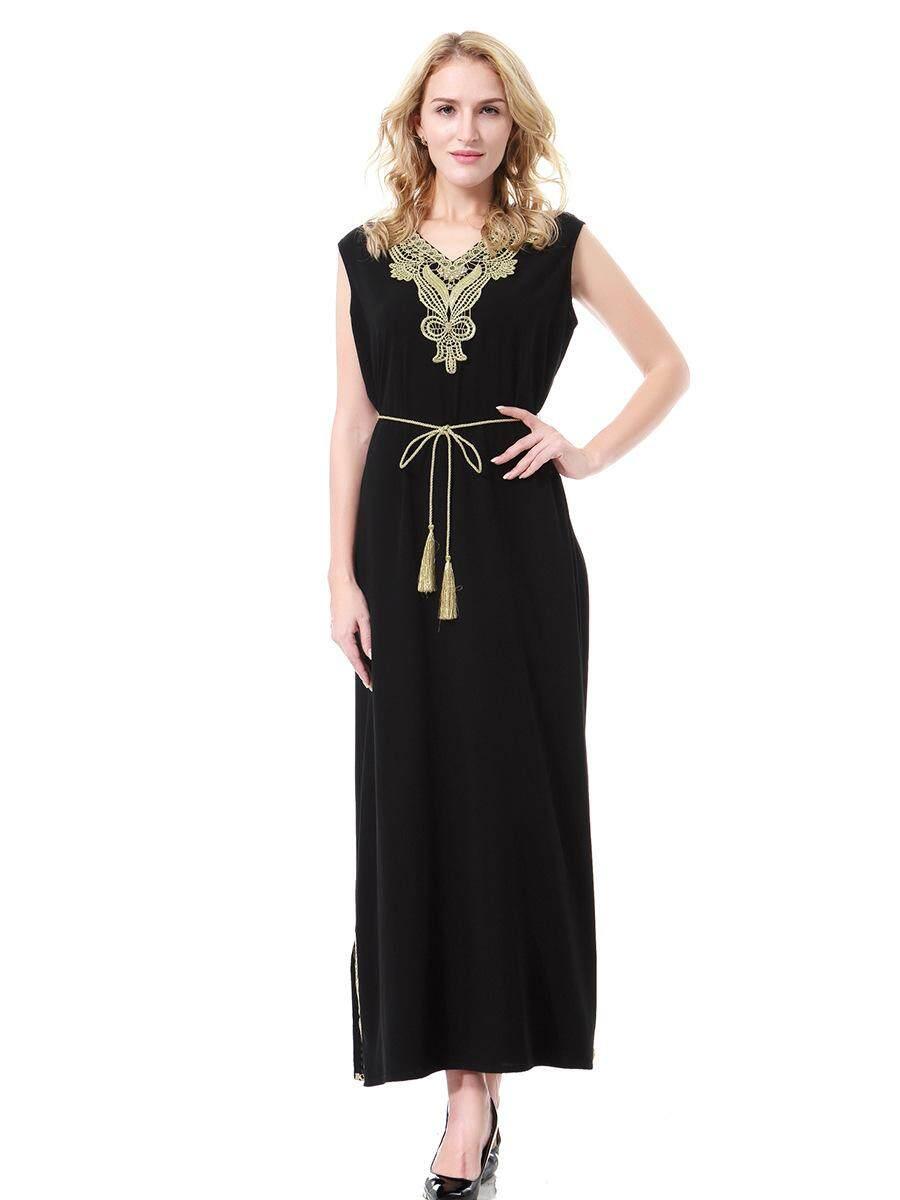 Fudun Muslim Arabia Middle East Lady Dubai Saudi Arabia Malaysia Gown Dress Dress. - intl