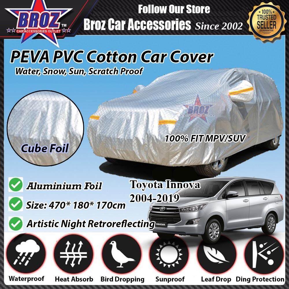 Toyota Innova Car Body Cover PEVA PVC Cotton Aluminium Foil Double Layers - MPV