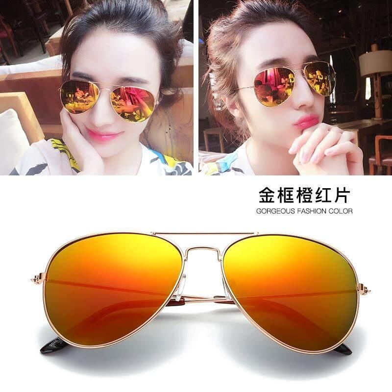Sunglasses men and women tide 2018 new bright frog mirror driver mirror retro reflective sunglasses men's