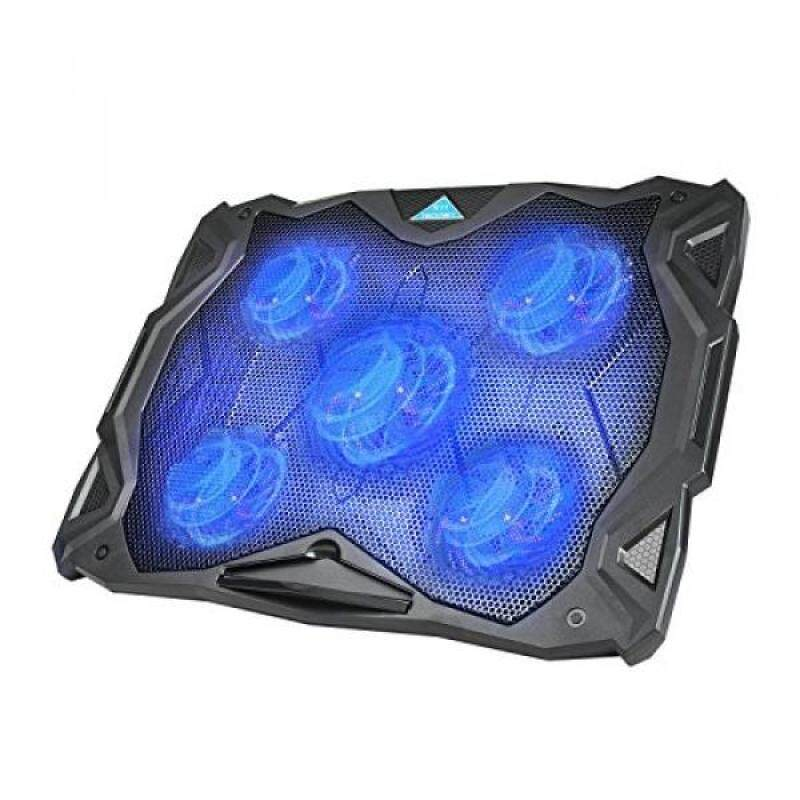 Laptop Cooling Pad, TeckNet USB Powered Silent Gaming Laptop Notebook Cooler Cooling Pad Stand with 5 Fans and Blue LED Lights for Macbook Pro, Fits 12-17 - intl