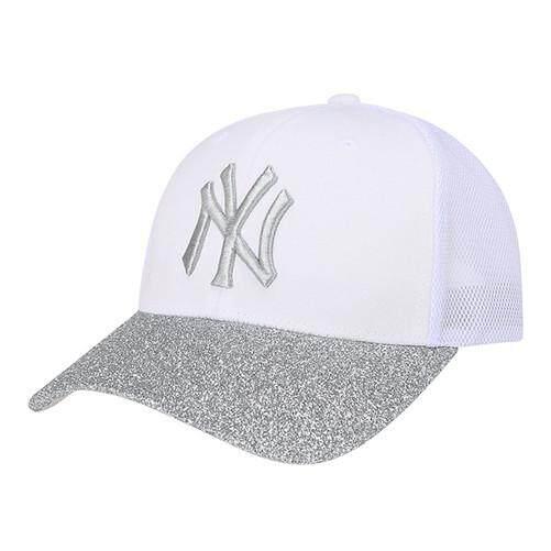 BBOY untuk Pria dan Wanita Laris Ruang Merajut MLB New York Yankees Hitam  Perak Topi Olahraga c44efb5739
