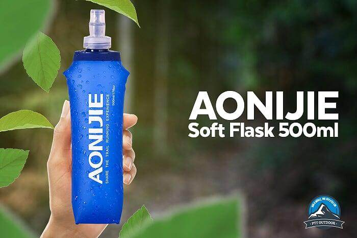 [LOCAL DELIVERY] AONIJIE 500ml Soft Flask Sports Foldable BPA PVC Free Soft Running Water Kettle Soft Hiking Flask Hydration Bottle (1 PIECE) - Blue