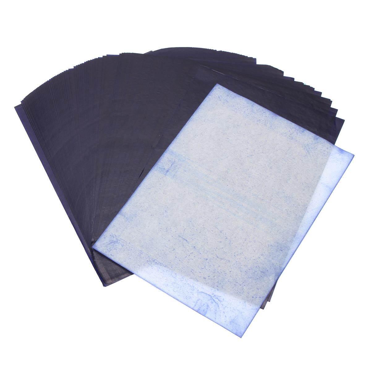 Review 100 Lembar A4 Gelap Biru Karbon Tangan Mesin Fotokopi Stencil Kertas Transfer Paper Hectograph Internasional