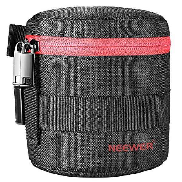 Neewer NW-L2020 Thick Padded Protective Water Resistant Lens Pouch for 18-55MM Lens, Such as Canon 50-1.4 50-1.8 85-1.8 18-55 35-2/Nikon 50-1.8 16-85 18-55 35-1.8G 60-2.8 24-85 40-1.8 (Red)