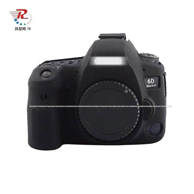 Soft Silicone Rubber Camera Body Case Cover For Canon EOS 6Dii 6D Mark ii