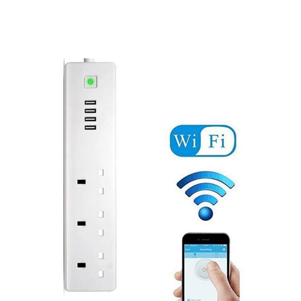 niceEshop (UK Plug)Wifi Smart Power Strip, Multi Plug Sockets With 3 AC