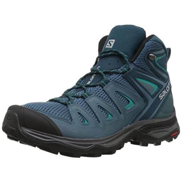 0dd0c3f63edb9 Salomon Womens X Ultra Mid 3 Aero W Trail Running Shoe, Mallard Blue, 10