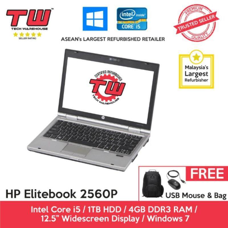 HP Elitebook 2560p Core i5 2.6 GHz / 4GB RAM / 1TB HDD / Windows 7 Laptop / 3 Months Warranty (Factory Refurbished) Malaysia
