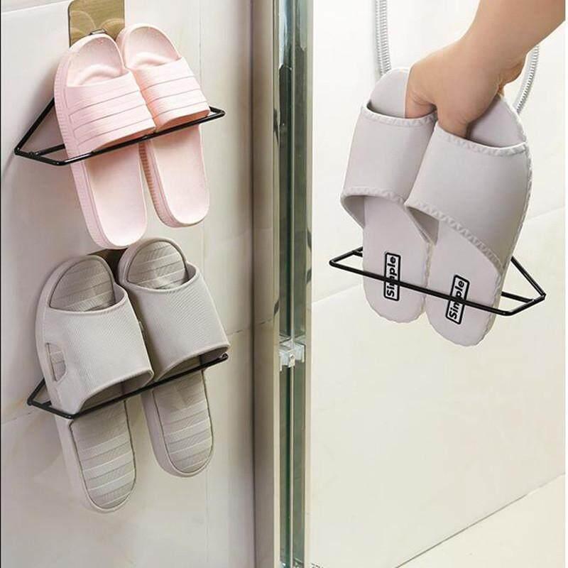 4 Ever Rumah Dinding-Mounted Sticky Pintu Gantungan Shoe Rak Rak Besi Sandal Organizer Penyangga Lemari Kabinet Pemegang kait Ruang Hemat-Internasional