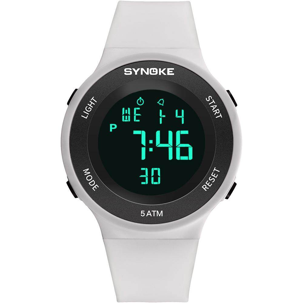 (white)SYNOKE Diving & Swimming Waterproof Digital Watches Wrist Sports Watches Students electronic Watches