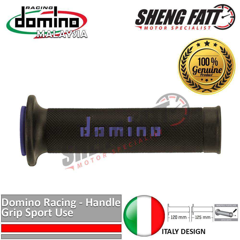"Domino Universal Handle Bar 7/8"" Motorcycle Racing Throttle Grips MotoGP handlebar Blue [ORIGINAL]"
