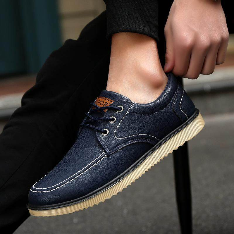 Fashion Mens Driving Casual Boat Shoes Moccasin Slip On Loafers Work Shoes Singapore