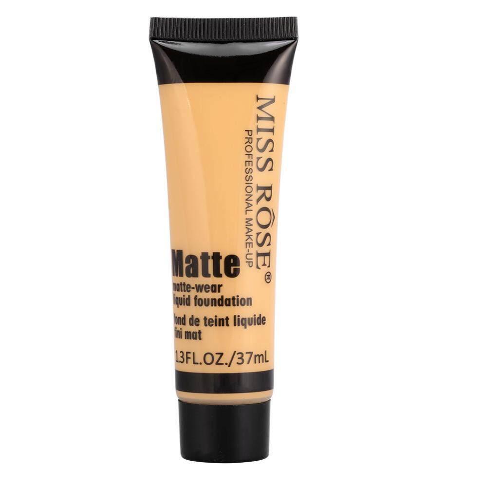 Detail Gambar Miss Rose Halus Alat Makeup Dasar Wajah Fondasi Berbahan Cair Matte Memakai Concealer Sun Krim BLOK #4-Intl Terbaru