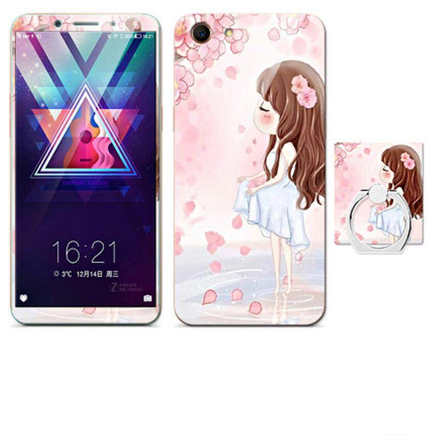 Luxury 3D Painting Front+Back Full Case Cover Color Tempered Glass Case For Oppo A83