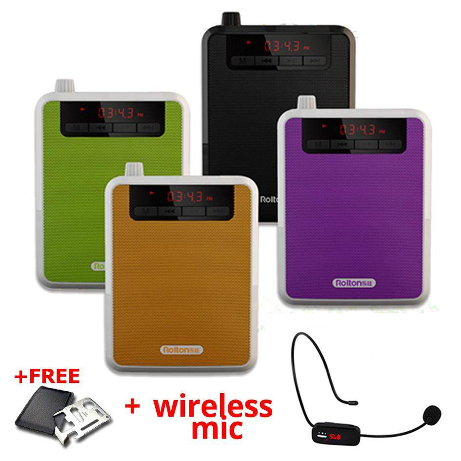 ROLTON K300 Portable Loud Speaker Amplifier Wireless Mic Recorder MP3 +Free Gift Malaysia
