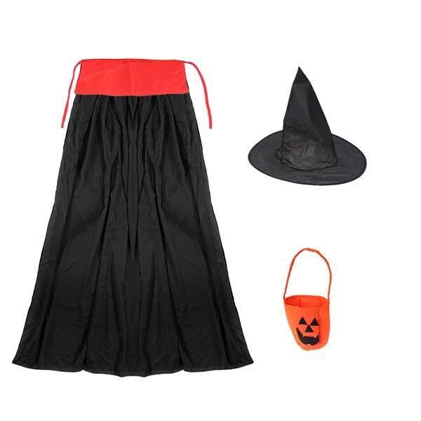 3 Pcs/set Halloween Anak-anak Bola Pesta Kostum Penyihir Jubah (Topi anak
