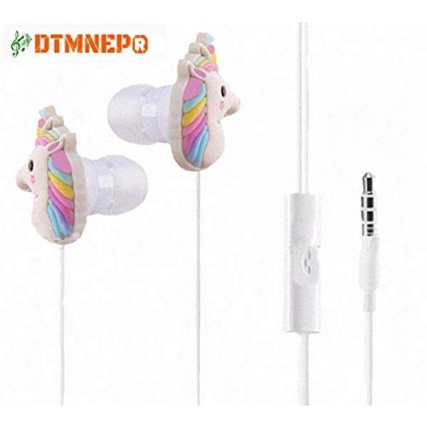 Unicorn Earphone 3D Cute Animal Best gift In-Ear Earbuds Headphones suitable to Remote and Mic for Apple Samsung HTC Android smartphones Tablets hands-free style of Electronics Wired 3.5 mm - intl