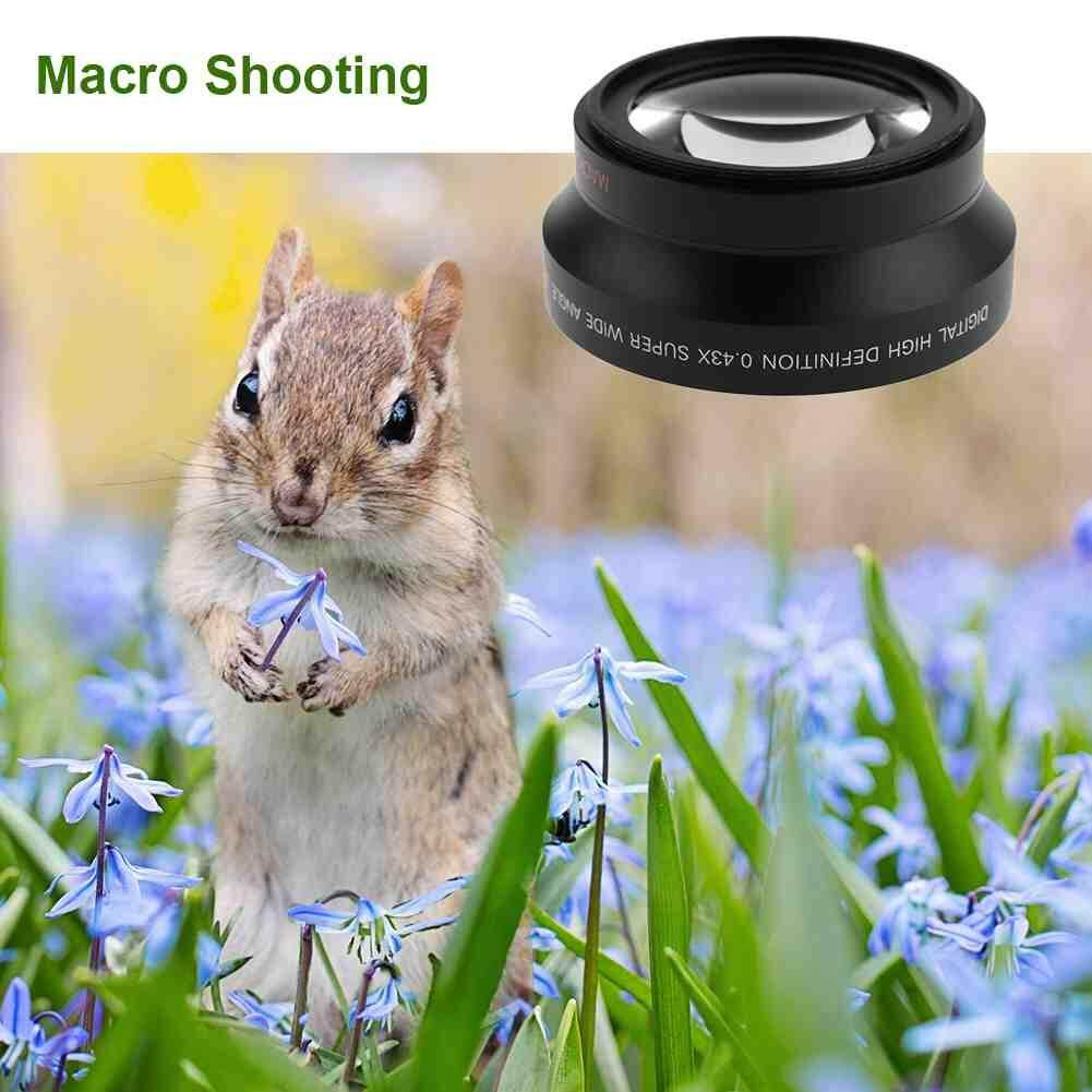 67MM 0.43X Wide Angle Macro Camera Lens for all 67mm Canon Nikon Sony Camera lenses