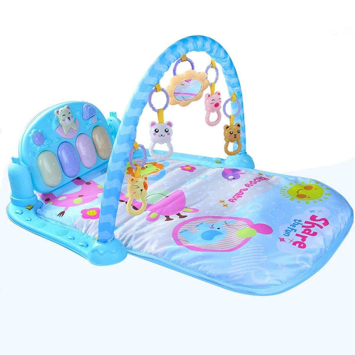 Hình ảnh Baby Gym Play Mat Lay & Play Fitness Music And Lights Fun Piano