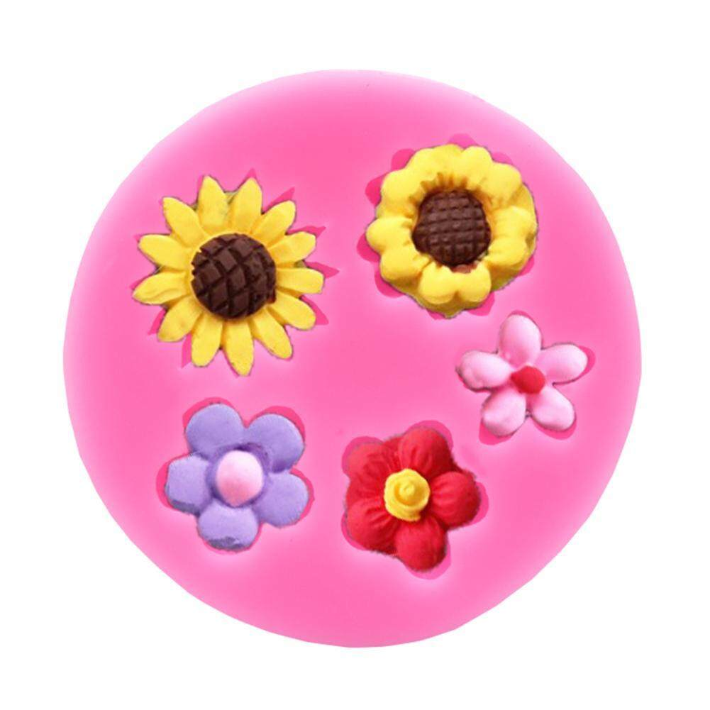 Detail Gambar Flowers Silicone Cake Chocolate Decorating Fondant Mold DIY Baking Tools Terbaru