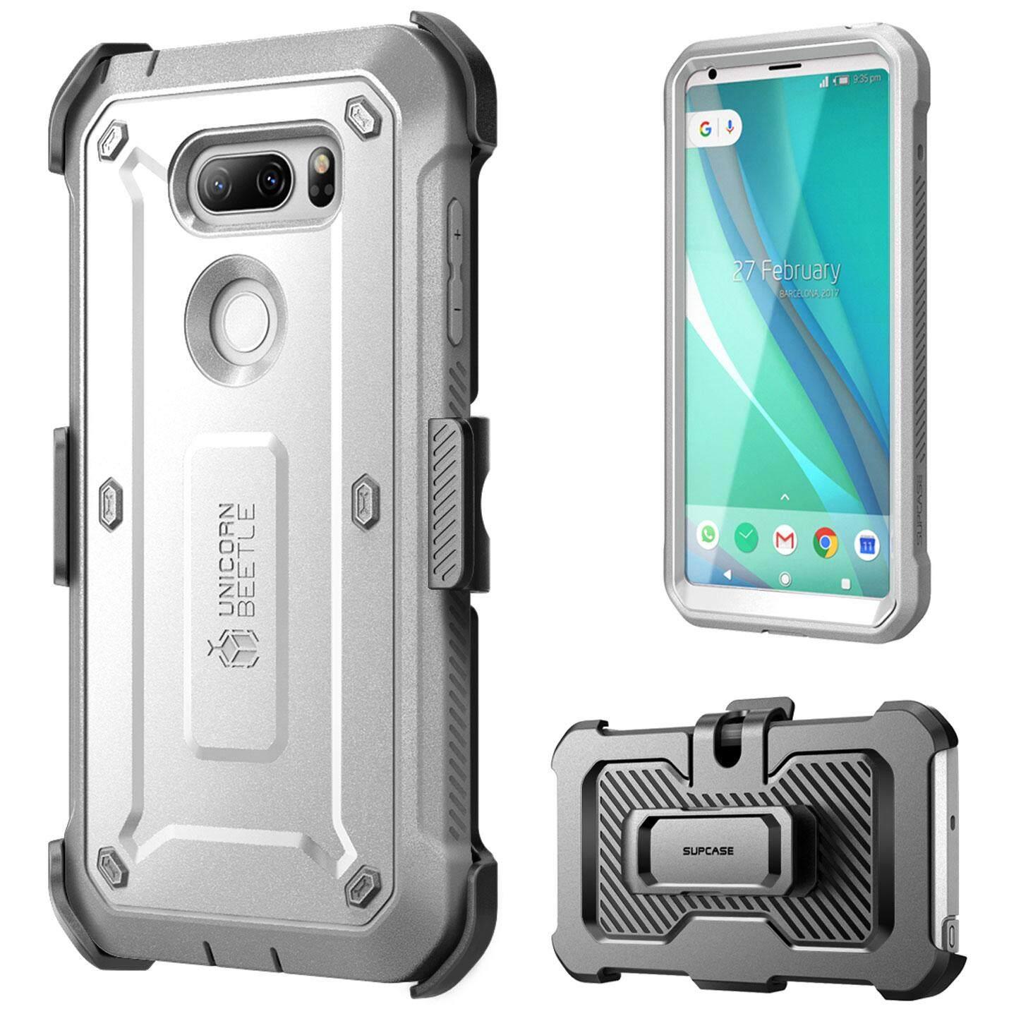 Sup Case LG V30 Case Tubuh Penuh Kasar Case dengan Pelindung Layar dan Klip Sabuk untuk LG V30, LG V30s LG V30 Plus, LG V35 LG V35 Thinq