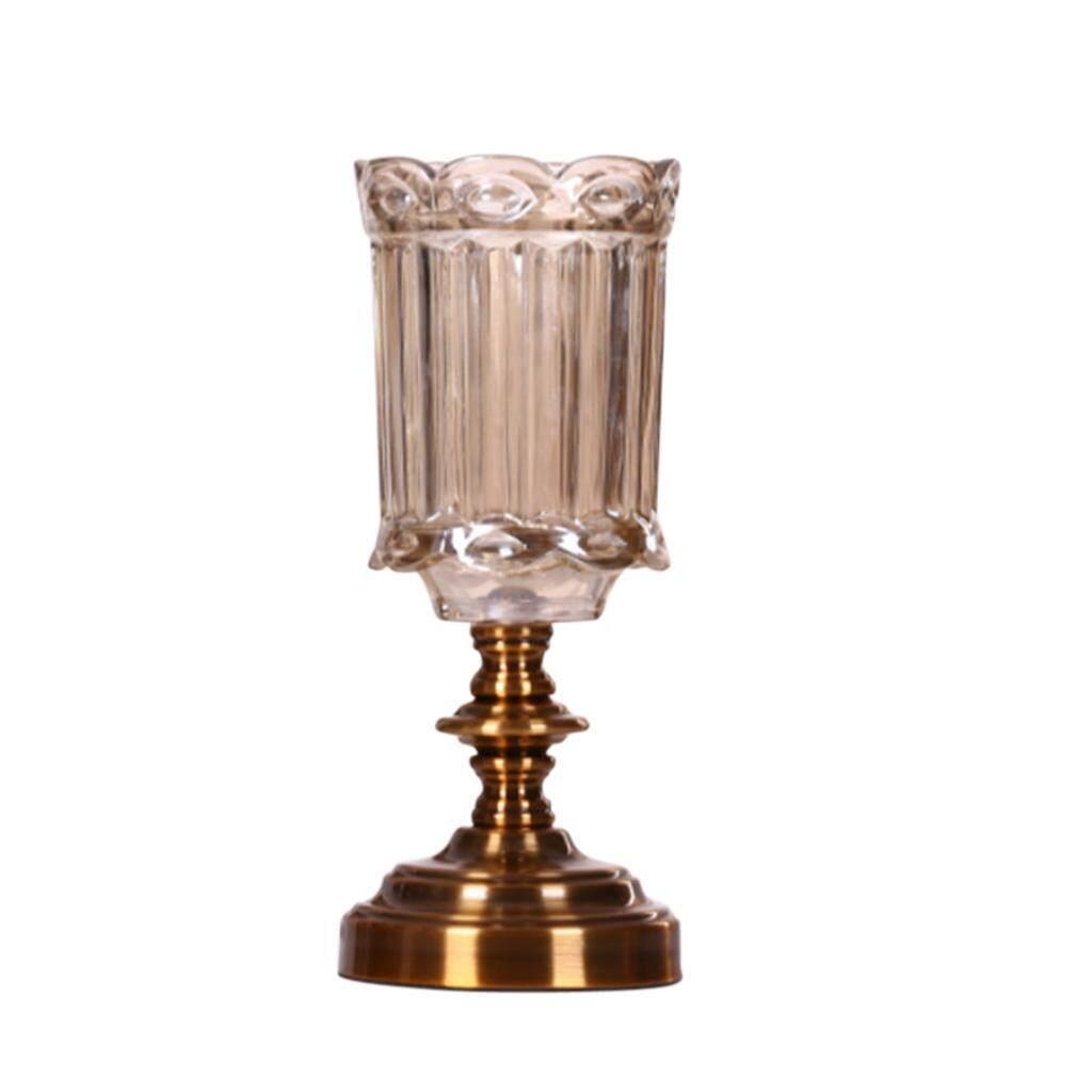 Fityle European Style Glass Flower Vase Art Vase for Home Office Table Decor 29cm