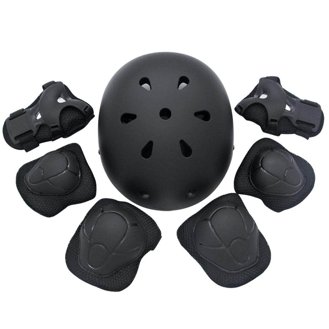 7pcs Kids Protective Gear Adjustable Sport Helmet With Wrist Pads Knee Pads Elbow Pads For Skateboarding Cycling By Jiangxing.
