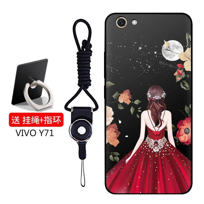 Full Protective TPU Soft Phone Case for Vivo y71 with a Rope and a