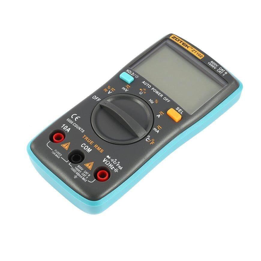 Detail Gambar ZOTEK ZT102 6000 Counts Digital Multimeter AC/DC Voltage Current Tester Gray+