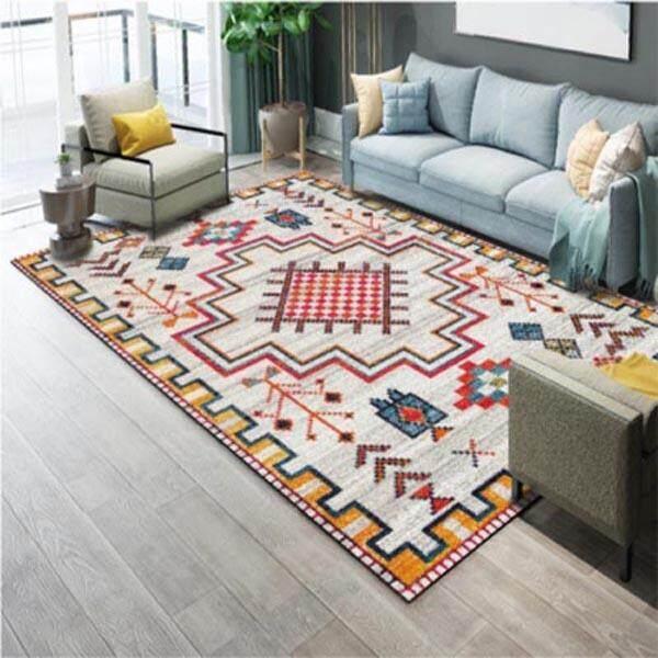 Anti-slip Bedroom Bedside Floor Mat Soft Washable Area Rug for Living Room Dining Sitting Room Square Decorative Wedding Carpet Tatami Mats 120x160cm - intl