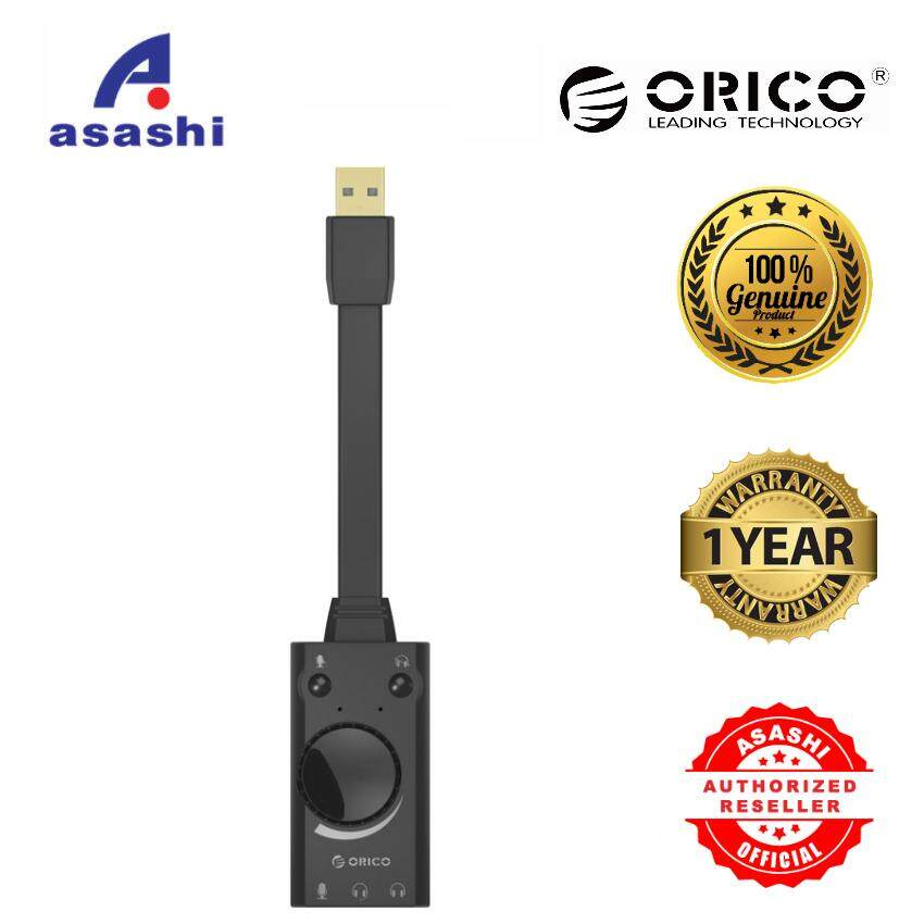 ORICO SC1 Driver Free USB External Sound Card with 2 headset port + 1 Microphone Port Malaysia