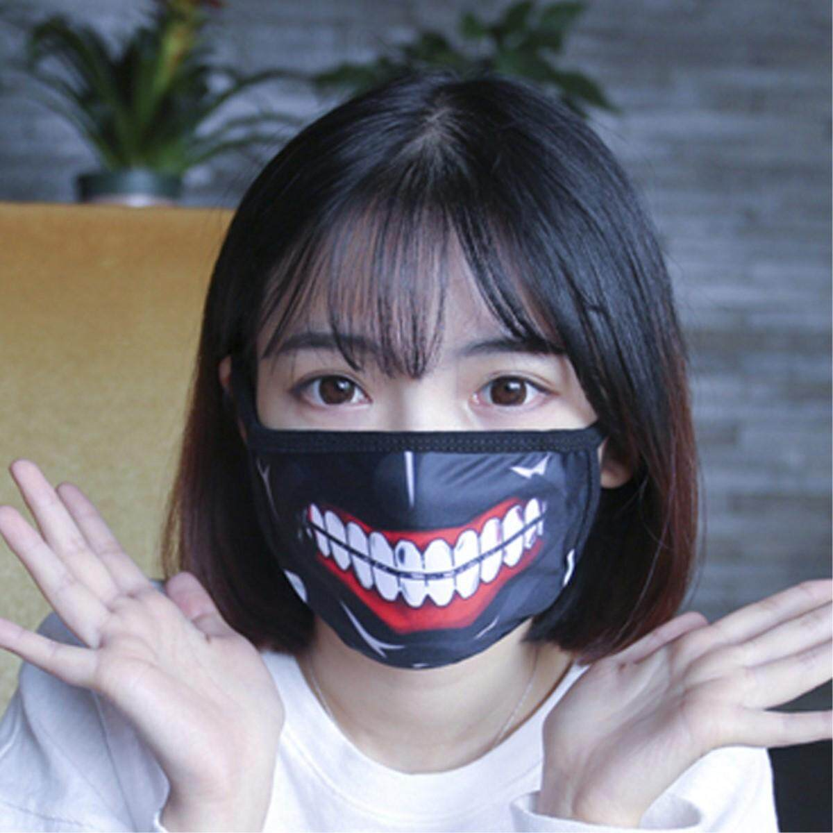 Kaneki Ken Face Masks Zipper Cycling Anti-Dust Anime Tokyo Ghoul Cosplay Mask By Liu666 Life.