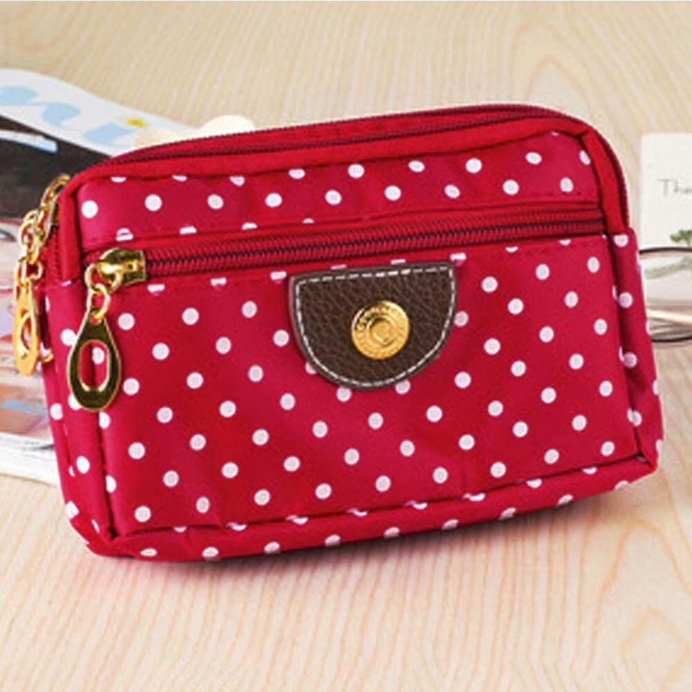 4 ซิปขนาดเล็กกระเป๋าสตางค์ผู้หญิงผ้าสุภาพสตรี, กระเป๋าเหรียญคีย์กระเป๋าถือใส่บัตร By Gethome12.