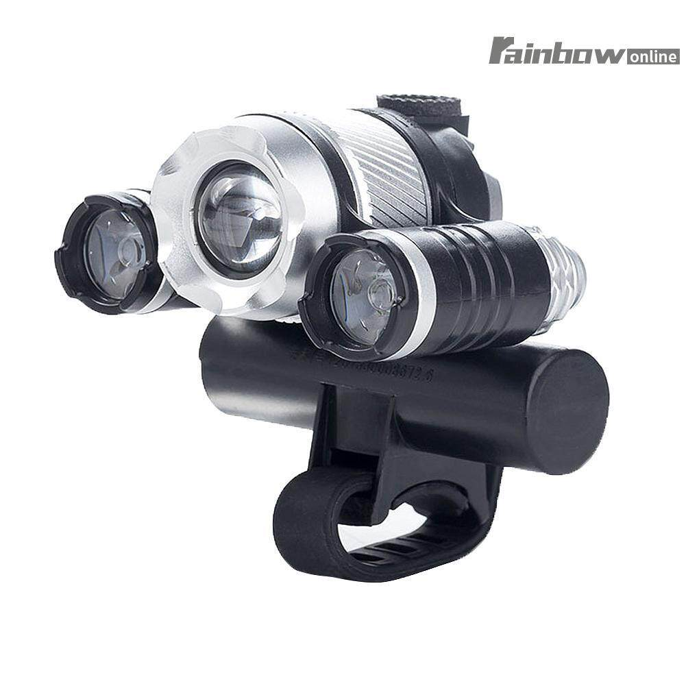 Buy Sell Cheapest 4 Led Headlight Best Quality Product Deals Headlamp Cree Xml T6 3 Mata Usb Sensor Zooming Bike Front Rechargeable Mode Intl