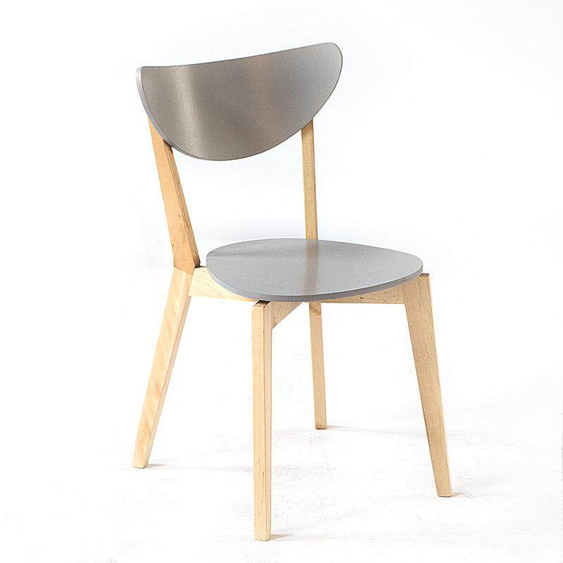 [Self] Love in Northern Europe HYUNDAI Solid Wood Can Be Stacked Chair White Dining Chair Office Chair