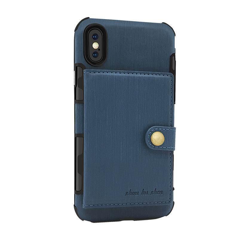 Luxus Flip Pu Leather Silikon Tpu Case Cover For Iphone 7 .