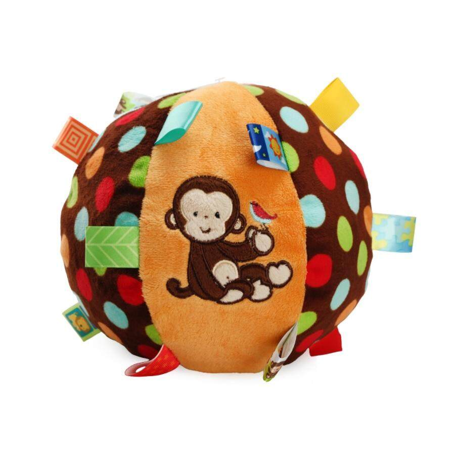 Features Happy Monkey Baby Plush Toy Rattle Teether Dan Harga Ange Hand Ball Taggies Small Jj 10
