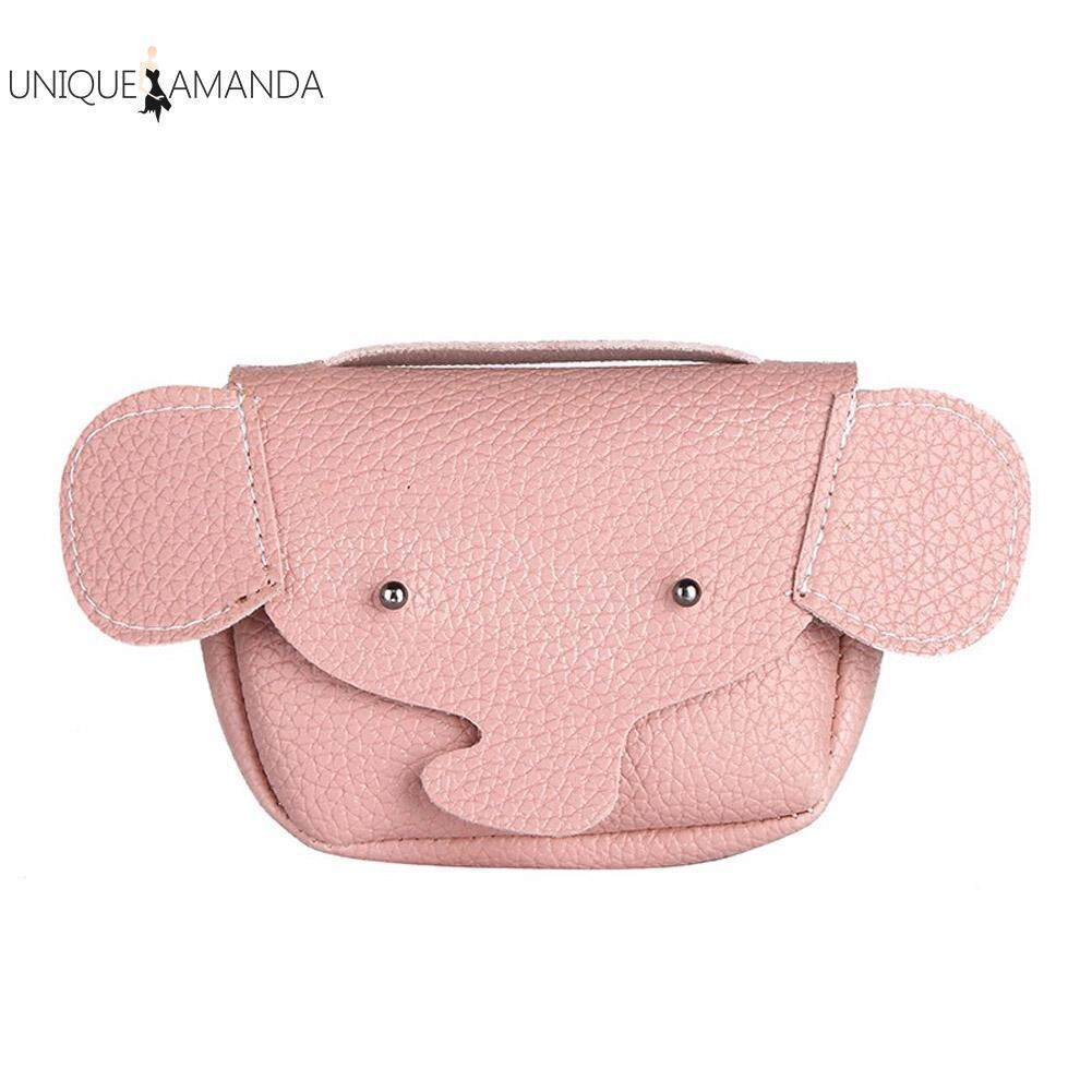 Cute Cartoon Animal Elephant Baby Kids Girls Messenger Bag Leather Shoulder Bags