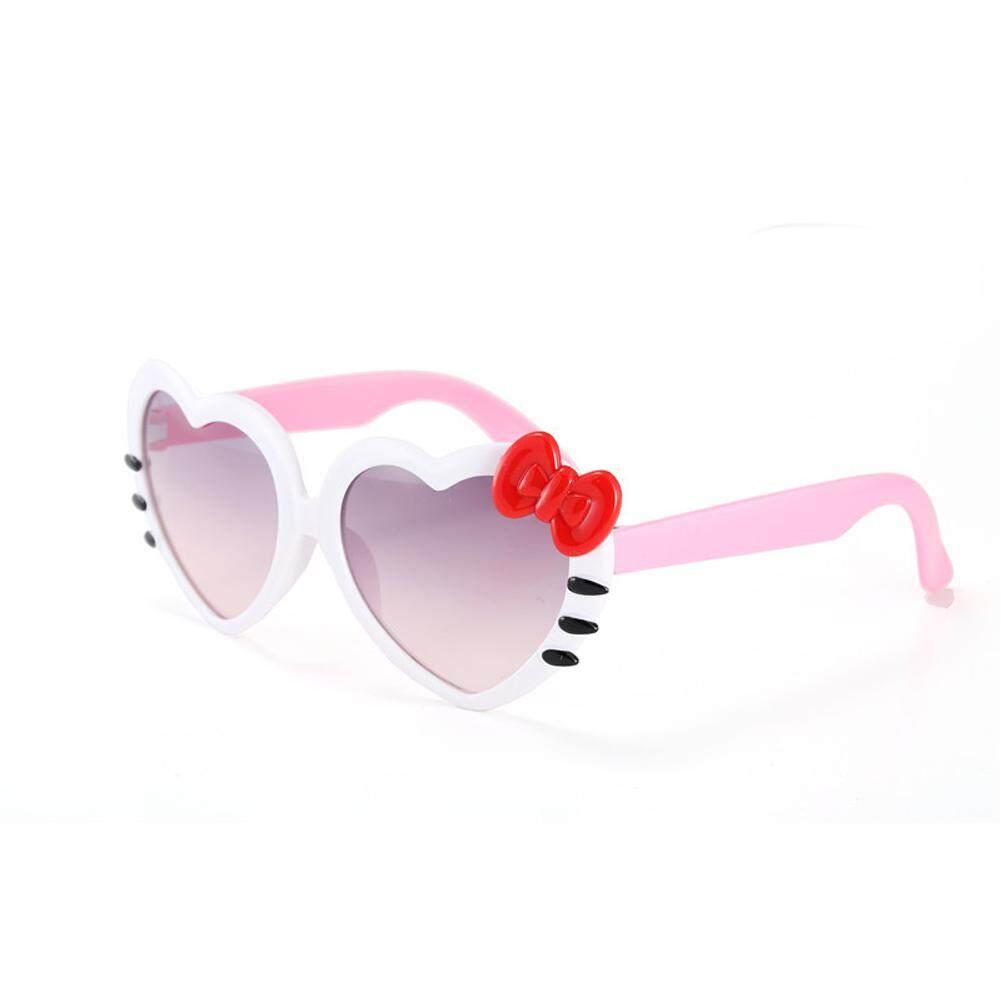 Bzy Anak-Anak Perlindungan Sinar Uv Peach Berbentuk Hati Kacamata Hitam Berbentuk Kupu-Kupu H04 By Beautyzy.