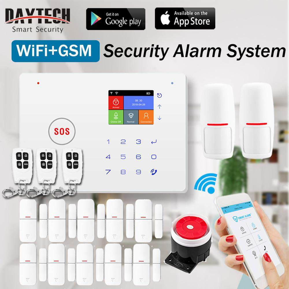 Features Daytech Wireless Wifi Gsm Smart Home Security Alarm System Infrared Intruder Kit With Motion Sensor Door
